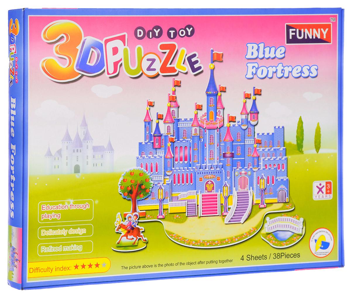 Funny 3D Пазл Голубой Замок