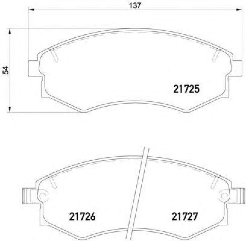 Колодки тормозные дисковые передние Bosch 986424215986424215
