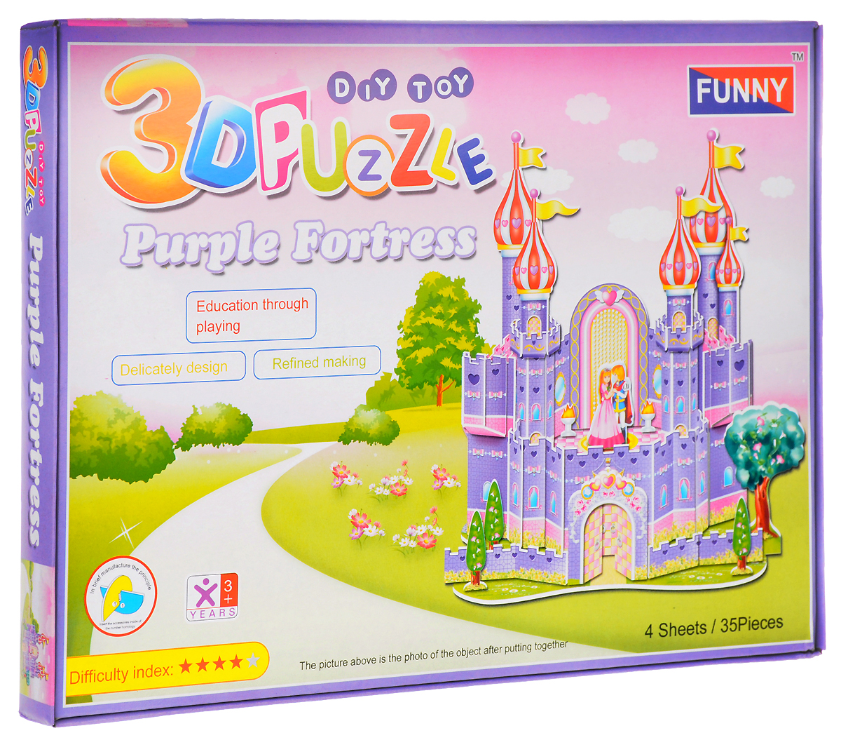 Funny 3D Пазл Фиолетовый Замок