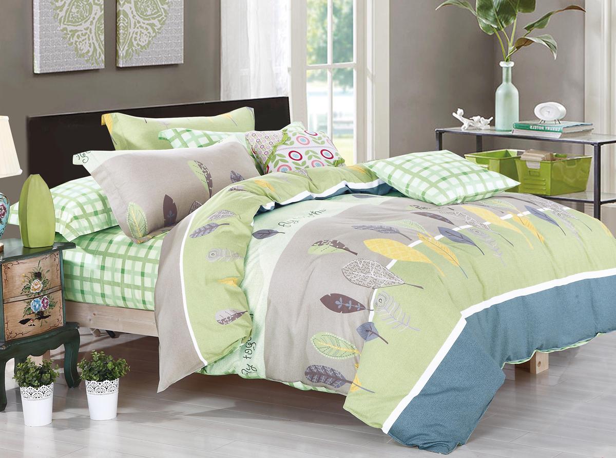 Комплект белья Soft Line, 1,5-спальный, наволочки 50x70. 1055610556Роскошный комплект постельного белья Soft Line выполнен из качественного плотного сатина и украшен оригинальным рисунком. Комплект состоит из пододеяльника, простыни и двух наволочек. Постельное белье Soft Line подобно облаку сочетает в себе плотность цвета и безграничную нежность фактуры. Это белье обладает волшебной практичностью, а потому оказываться на седьмом небе станет вашим привычным занятием. Доверьте заботу о качестве вашего сна высококачественному натуральному материалу. Сатин - это ткань из 100% натурального хлопка. Мягкость и нежность материала создает чувство комфорта и защищенности. Классический натуральный природный материал делает это постельное белье нежным, элегантным и приятным. Советы по выбору постельного белья от блогера Ирины Соковых. Статья OZON Гид
