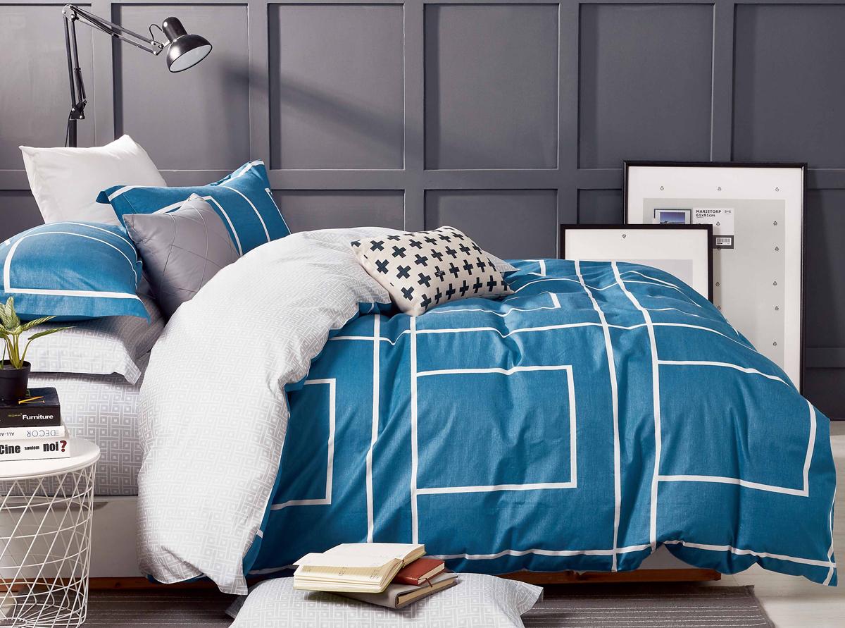 Комплект белья Soft Line, 2-спальный, наволочки 50x70. 1051310513Постельное бельё SL из сатина с декоративной отделкой