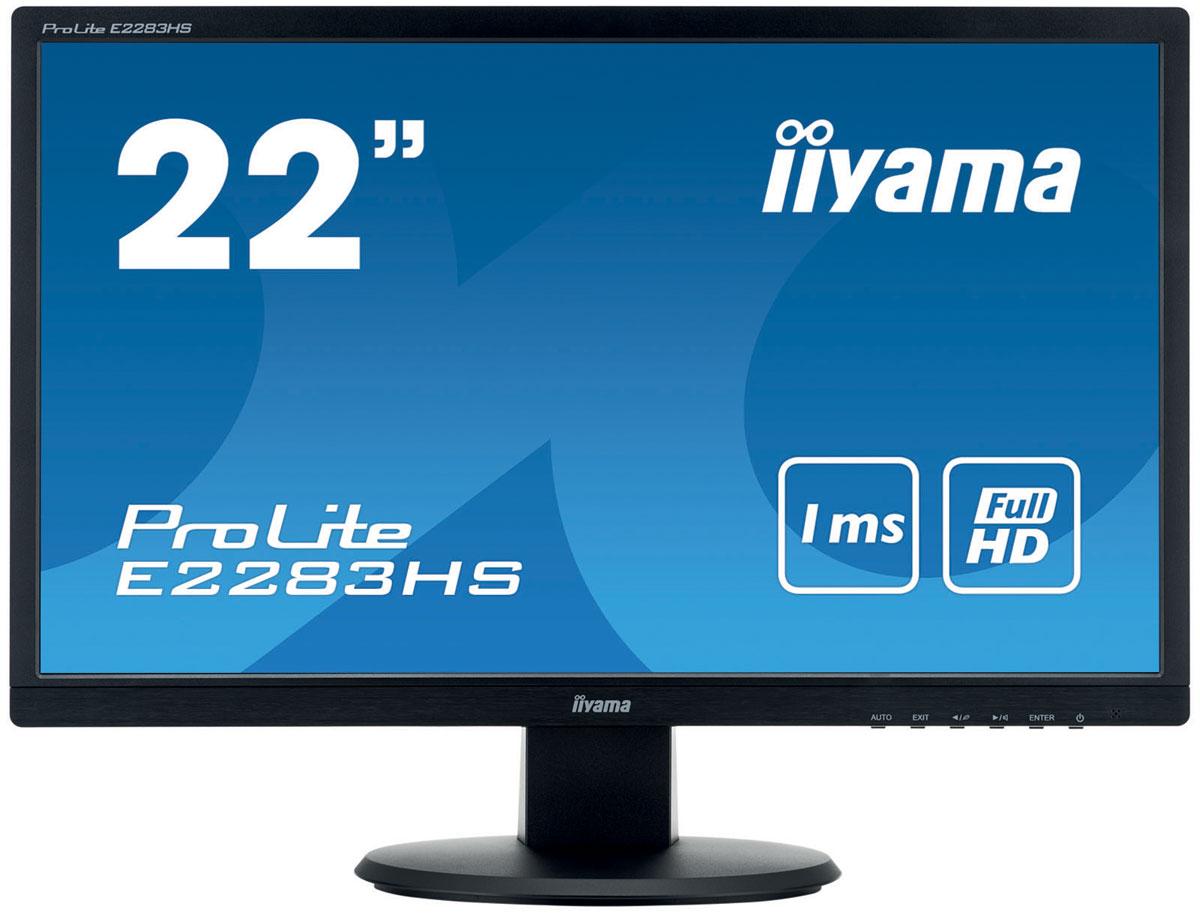 iiyama ProLite E2283HS-B1, Black мониторE2283HS-B1Гибкий в использовании монитор iiyama ProLite E2283HS-B1 оснащен как цифровым, так и аналоговым входами, что существенно увеличивает возможности его подключения к устройствам воспроизведения видеосигнала.Регулировка яркости монитора при помощи изменения силы тока позволил убрать мерцание экрана. Попробуйте сами – просто посмотрите на экран через камеру смартфона. Нет мерцания – вашим глазам понравится.Изображение на экране монитора может становиться размытым при показе очень динамичного изображения. Технология Overdrive позволяет избежать этого.Играете с друзьями? Используйте качественные встроенные динамики. Не хотите никого беспокоить? Присоедините гарнитуру к аудиоразъему и прибавьте громкости.Контрастность - это отношение яркостей самой светлой и самой тёмной частей изображения на экране ЖК-монитора. Технология Advanced Contrast Ratio (продвинутая контрастность) автоматически регулирует контрастность и яркость, основываясь на характеристиках картинки. Чем выше контрастность, тем лучше будет смотреться картинка в темной комнате.Совместимость со стандартом VESA позволяет легко монтировать LFD с использованием любых креплений, которые соответствуют этим спецификациям.