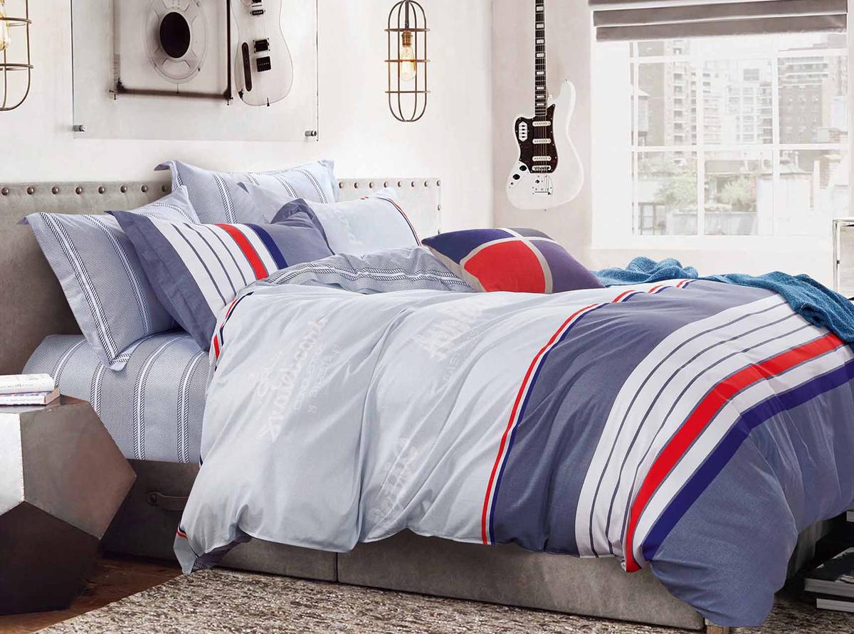 Комплект белья Soft Line, 2-спальный, наволочки 50x70. 1053710537Постельное бельё SL из сатина с декоративной отделкой