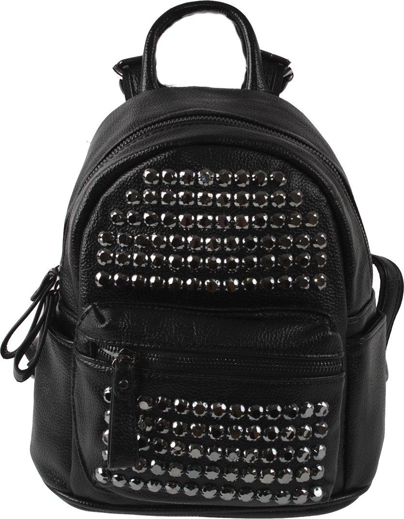 Рюкзак женский Flioraj, цвет: черный. 7996-55 ostin рюкзак с двумя карманами