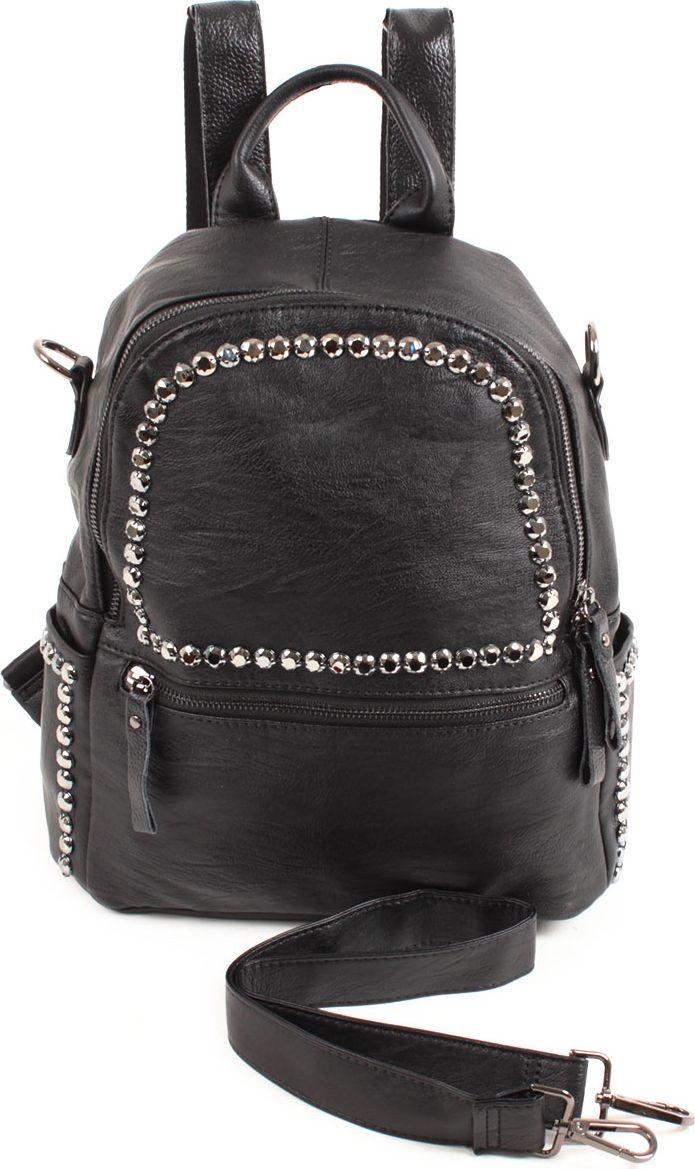 Рюкзак женский Flioraj, цвет: черный. 8262-1 ostin рюкзак с двумя карманами
