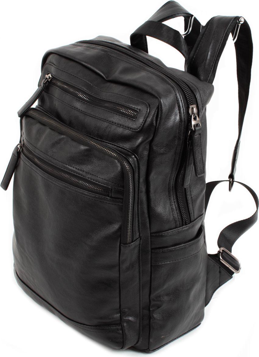 Рюкзак Flioraj, цвет: черный. 09930993 чернСтильный и практичный рюкзак Flioraj отлично подходит для прогулок, путешествий и учебы. Рюкзак удобен и функционален, сшит из прочной высококачественной экокожи. В нем есть все, что нужно: два отделения, закрывающиеся на молнию, и три внутренних кармана: два для мобильного телефона и карман на молнии. Снаружи рюкзак дополнен двумя открытыми и четырьмя карманами на молнии.Рюкзак имеет широкие лямки регулируемой длины и ручку для переноски в руке. Такой рюкзак - простая и удобная вещь на каждый день.