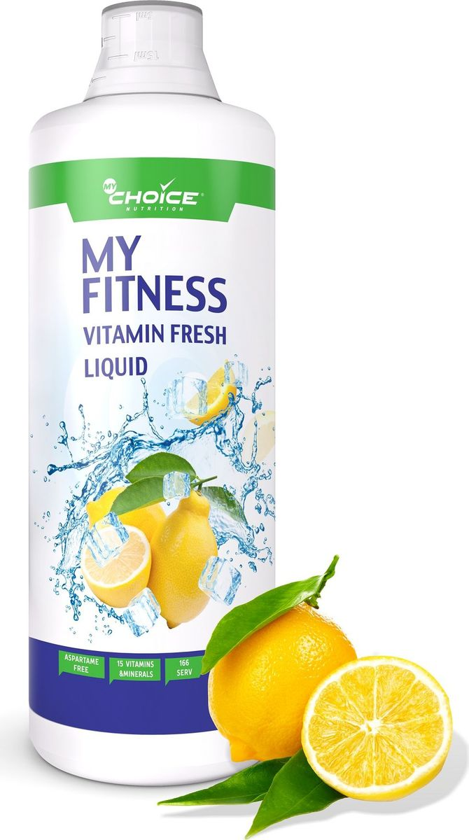 Витаминно-минеральный комплекс MyChoice Nutrition My Fitness Vitamin Fresh Liquid, лимон, 1 л sexy hair спрей для термозащиты средней фиксации 7 4 150 мл