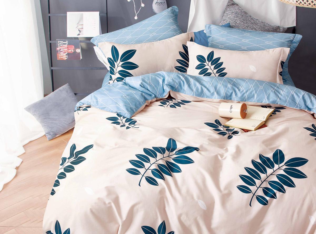Комплект белья Soft Line, евро, наволочки 50x70. 1051010510Постельное бельё SL из сатина с декоративной отделкой