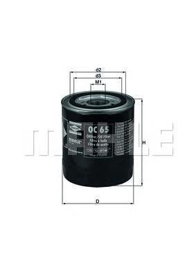 Фильтр масляный Mahle/Knecht OC65OC65