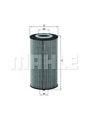 Фильтр масляный Mahle/Knecht OX358DOX358D