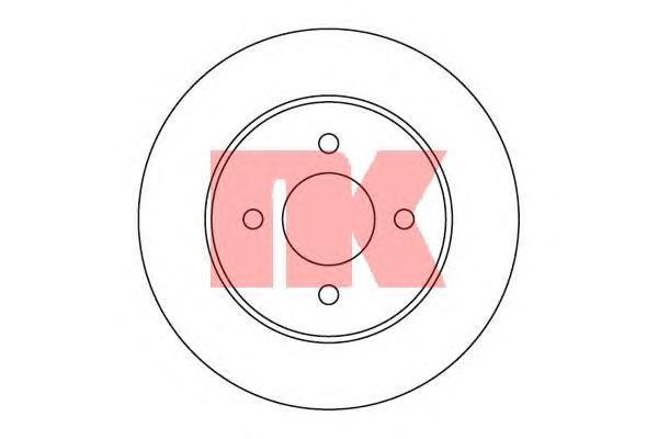 Диск тормозной NK 202269 комплект 2 шт202269