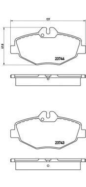 Колодки тормозные дисковые передние Brembo P50049P50049