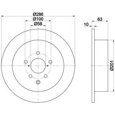Диск тормозной задний Textar 92200000 комплект 2 шт92200000