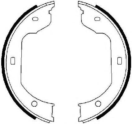 Колодки тормозные барабанные ручного тормоза Ferodo FSB668FSB668