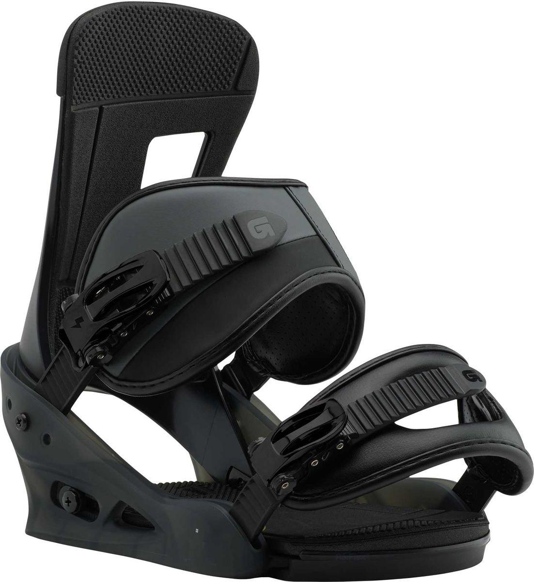 """Крепление для сноуборда Burton """"Freestyle Black Matte"""", цвет: черный. Размер L"""