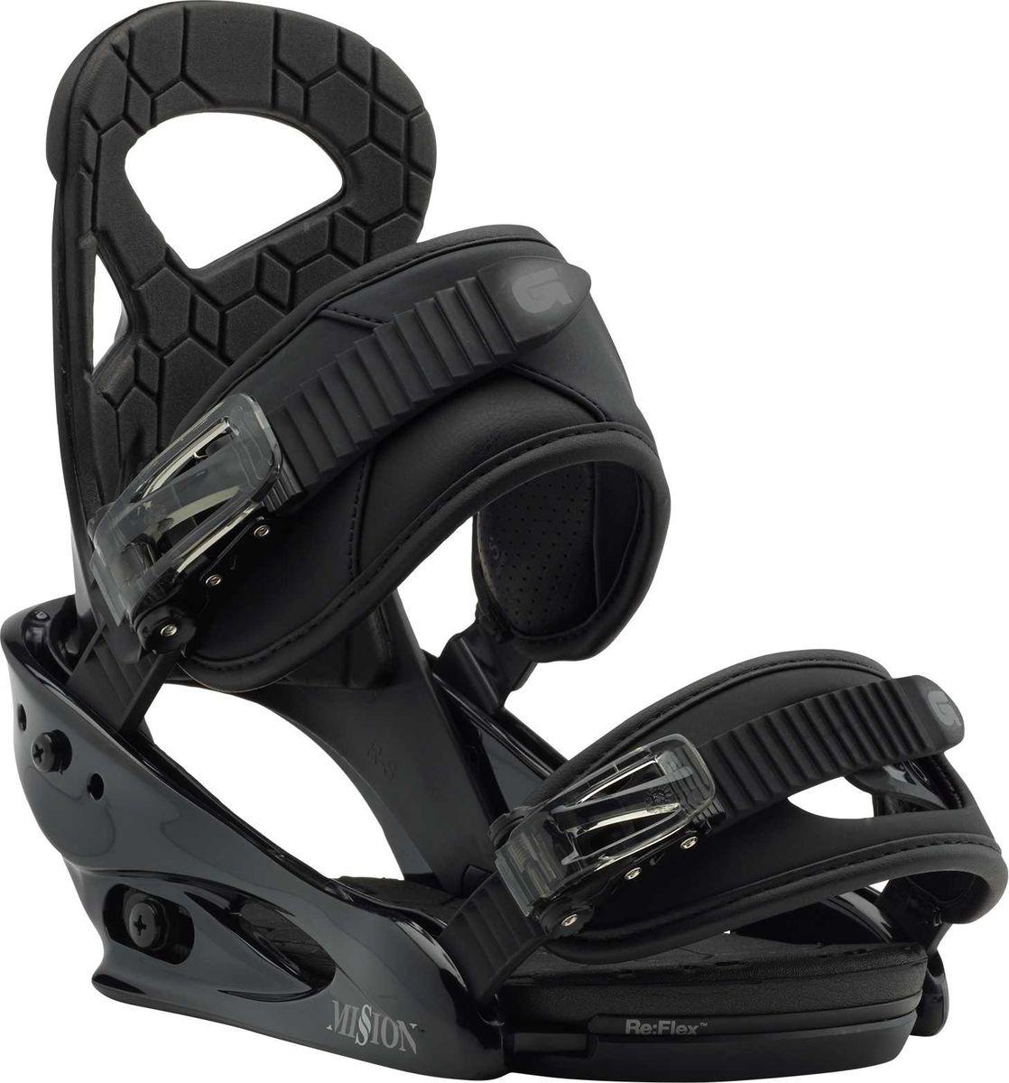 Крепление для сноуборда Burton Mission Smalls Black, цвет: черный. Размер S