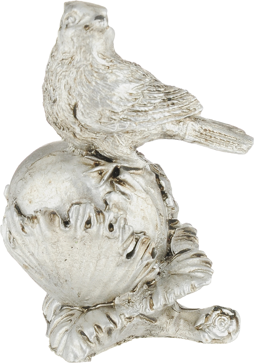 Фигурка декоративная Magic Home Птичка на орехе, цвет: бронзовый, 7,8 х 5 х 4,3 см75439Декоративная фигурка Птичка на орехе из полирезина от Magic Home - это это прекрасный вариант подарка для ваших друзей и близких. Оригинальная и стильная фигурка станет отличным дополнением в интерьере любой комнаты и будет удачно смотреться и радовать глаз.