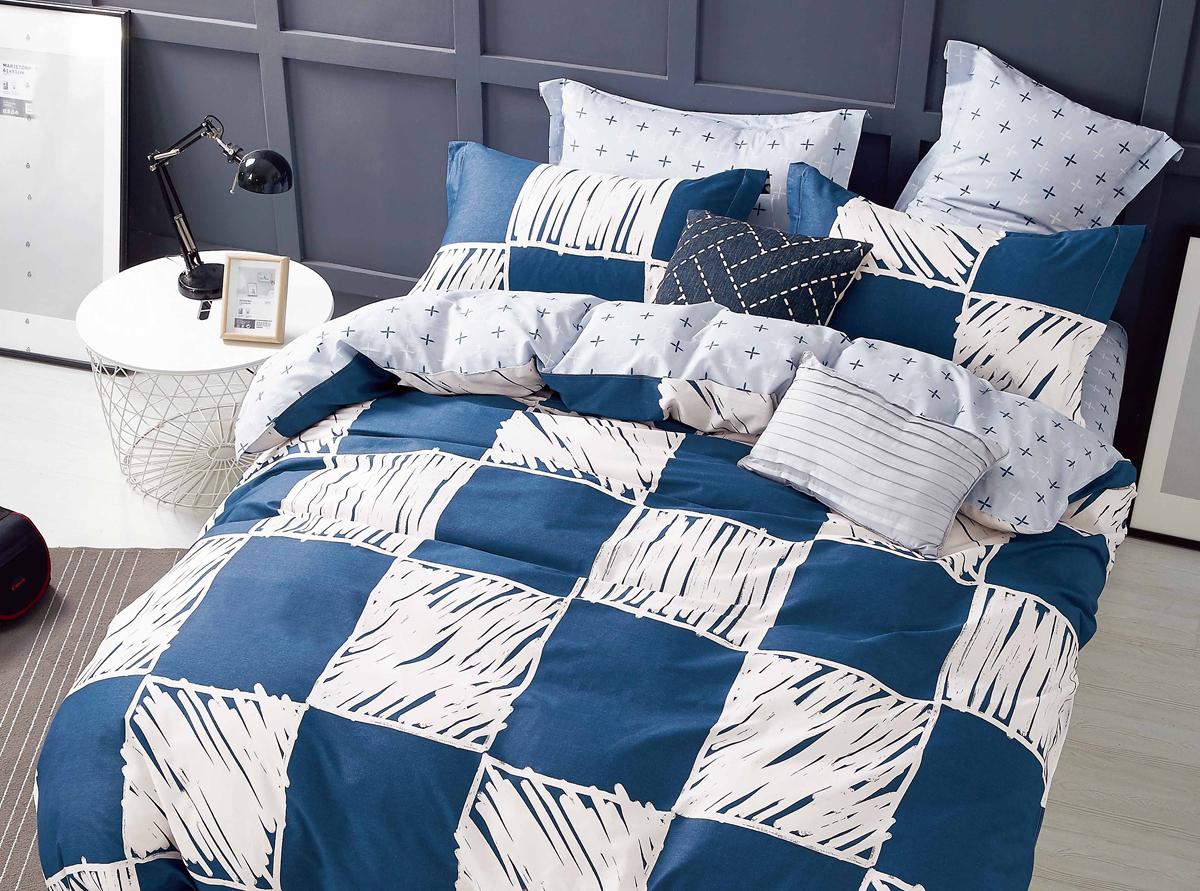 Комплект белья Soft Line, семейный, наволочки 50x70. 1051910519Роскошный комплект постельного белья Soft Line выполнен из качественного плотного сатина и украшен оригинальным рисунком. Комплект состоит из двух пододеяльников, простыни и двух наволочек.Постельное белье Soft Line подобно облаку сочетает в себе плотность цвета и безграничную нежность фактуры. Это белье обладает волшебной практичностью, а потому оказываться на седьмом небе станет вашим привычным занятием.Доверьте заботу о качестве вашего сна высококачественному натуральному материалу.Сатин - это ткань из 100% натурального хлопка. Мягкость и нежность материала создает чувство комфорта и защищенности. Классический натуральный природный материал делает это постельное белье нежным, элегантным и приятным.