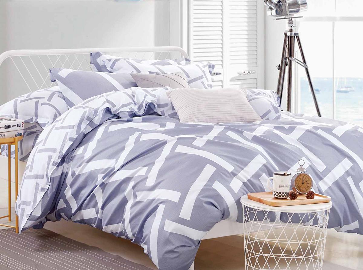 Комплект белья Soft Line, семейный, наволочки 50x70. 1054710547Постельное бельё SL из сатина с декоративной отделкой