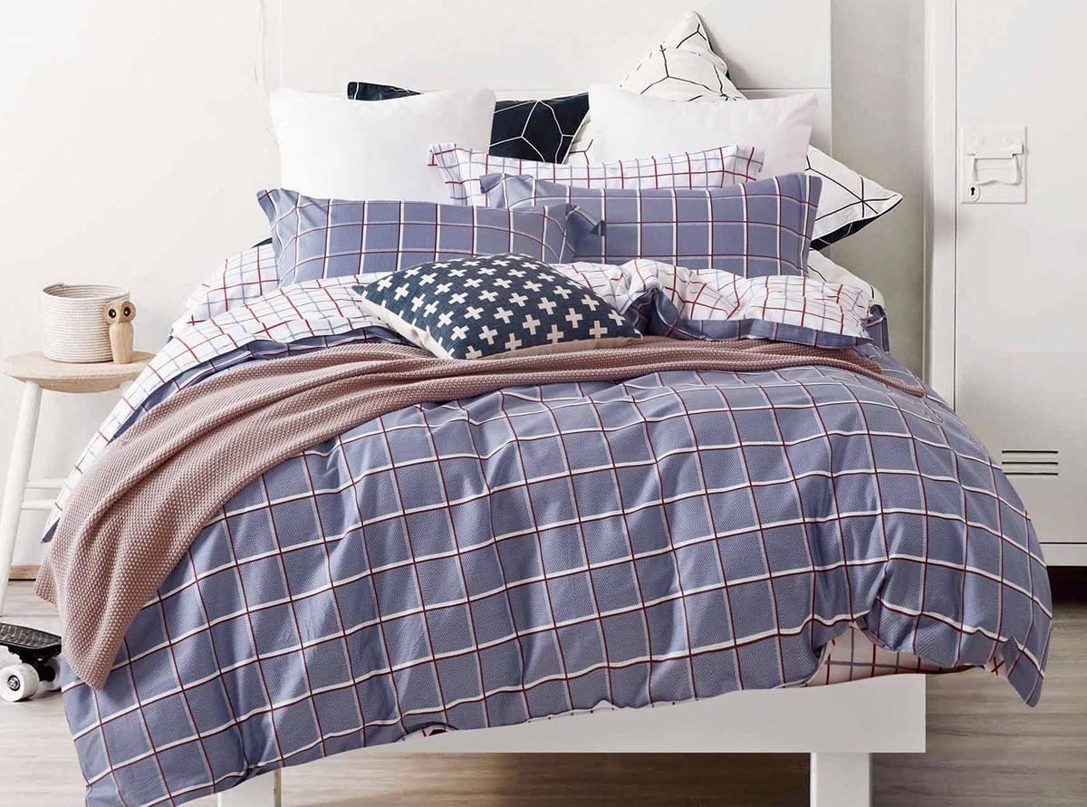 Комплект белья Soft Line, семейный, наволочки 50x70. 1055110551Постельное бельё SL из сатина с декоративной отделкой