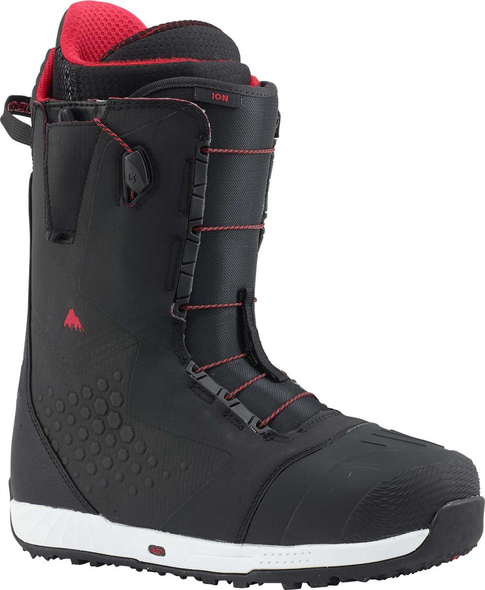 Ботинки для сноуборда Burton Ion, цвет: черный, красный. Длина стельки 28 см17036102027Год за годом эти ботинки становятся выбором команды Burton.Все потому,что они сконуентрировали в себе комфорт,производительность и технологичность.