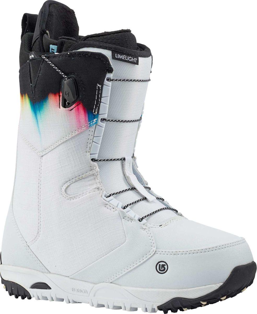 Ботинки для сноуборда Burton Limeligh, цвет: белый. Длина стельки 25 см10621104117Жемчужина женской коллекции,невероятно теплые и комфортные.Идеальны для достижения новых высот в катании.