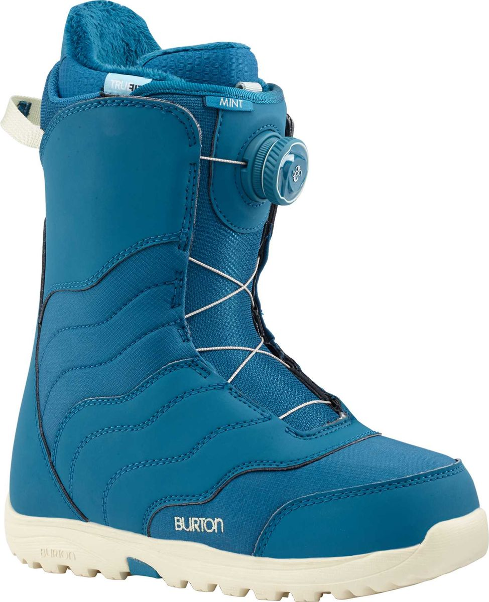 Ботинки для сноуборда Burton Mint Boa, цвет: синий. Длина стельки 25,5 см13177103400Самый популярный в мире женский ботинок.Наконец то самый комфортный ботинок обзавелся системой шнуровки BOA.