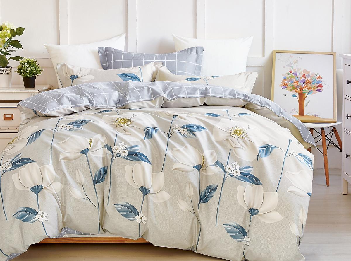 Комплект белья Soft Line, семейный, наволочки 50x70. 1057110571Роскошный комплект постельного белья Soft Line выполнен из качественного плотного сатина и украшен оригинальным рисунком. Комплект состоит из двух пододеяльников, простыни и двух наволочек.Постельное белье Soft Line подобно облаку сочетает в себе плотность цвета и безграничную нежность фактуры. Это белье обладает волшебной практичностью, а потому оказываться на седьмом небе станет вашим привычным занятием.Доверьте заботу о качестве вашего сна высококачественному натуральному материалу.Сатин - это ткань из 100% натурального хлопка. Мягкость и нежность материала создает чувство комфорта и защищенности. Классический натуральный природный материал делает это постельное белье нежным, элегантным и приятным.