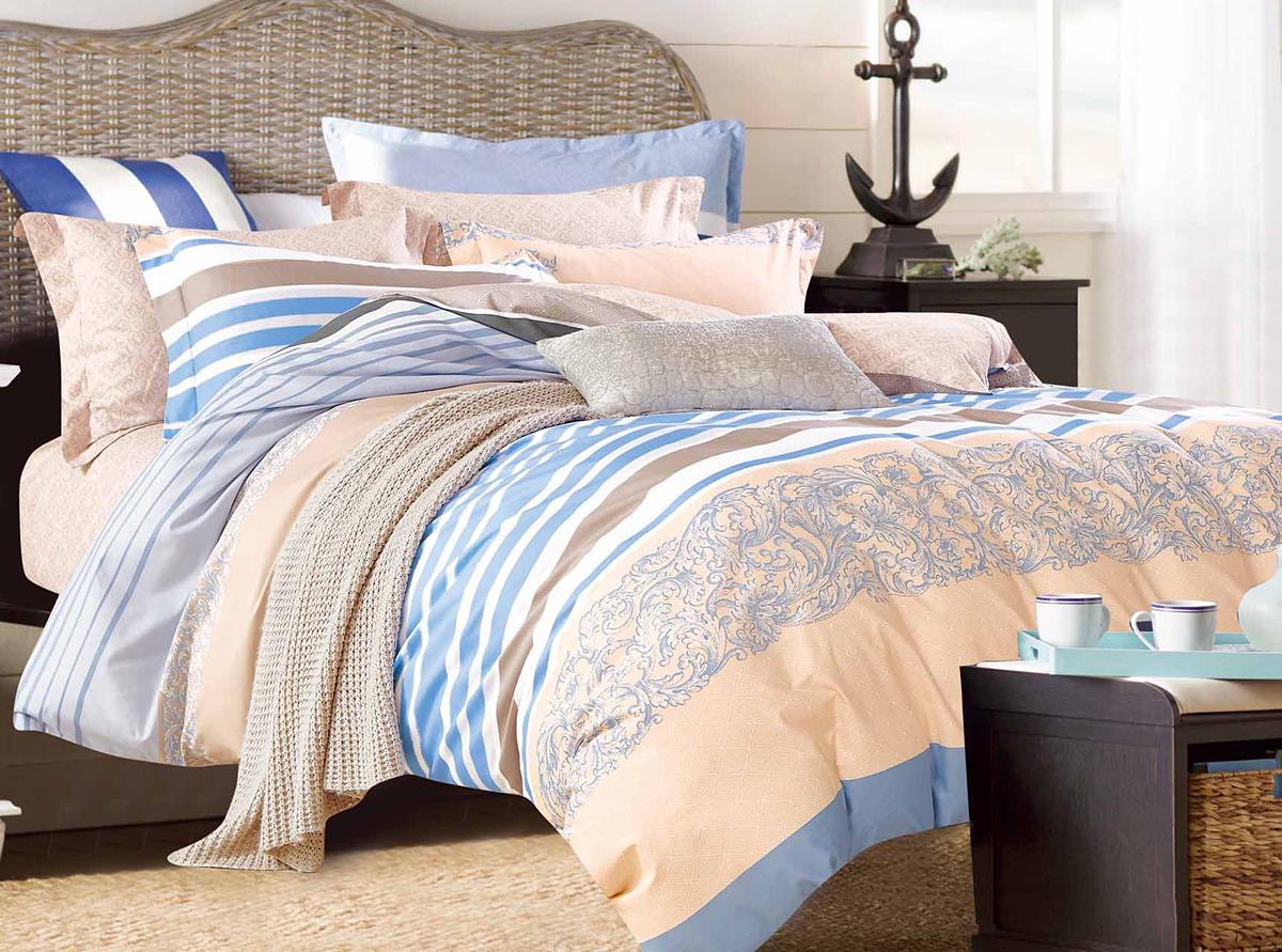 Комплект белья Soft Line, семейный, наволочки 50x70. 1057510575Роскошный комплект постельного белья Soft Line выполнен из качественного плотного сатина и украшен оригинальным рисунком. Комплект состоит из двух пододеяльников, простыни и двух наволочек.Постельное белье Soft Line подобно облаку сочетает в себе плотность цвета и безграничную нежность фактуры. Это белье обладает волшебной практичностью, а потому оказываться на седьмом небе станет вашим привычным занятием.Доверьте заботу о качестве вашего сна высококачественному натуральному материалу.Сатин - это ткань из 100% натурального хлопка. Мягкость и нежность материала создает чувство комфорта и защищенности. Классический натуральный природный материал делает это постельное белье нежным, элегантным и приятным.