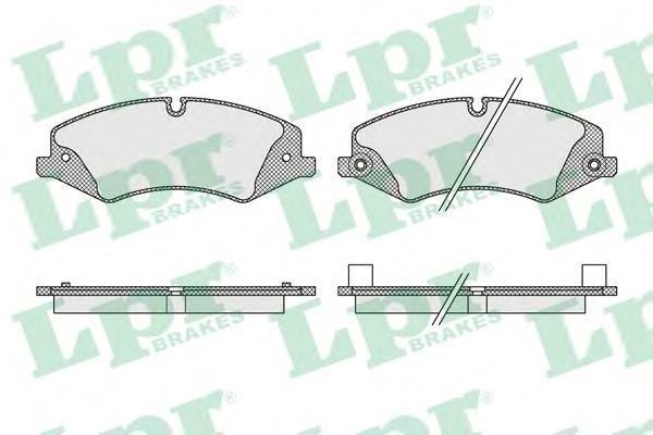 Колодки тормозные передние LPR / AP 05P161605P1616