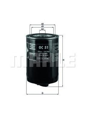 Сменный масляный фильтрOC51OF