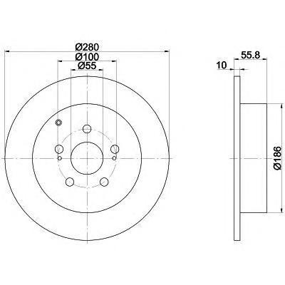 Диск тормозной Textar 92135703 комплект 2 шт92135703