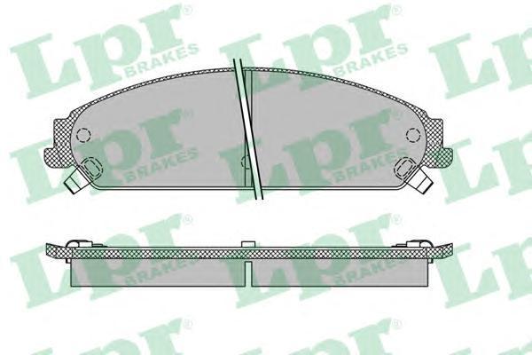 Колодки тормозные передние LPR / AP 05P140105P1401