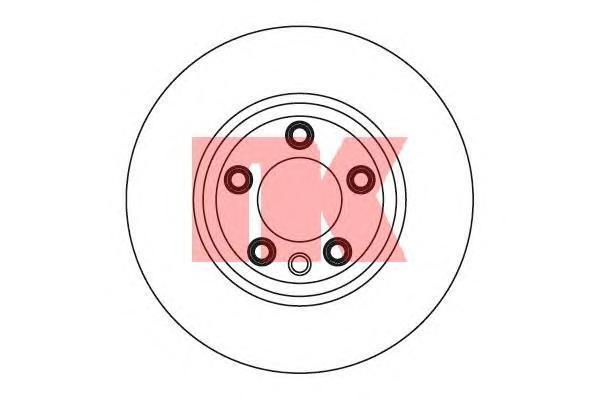 Диск тормозной передний левый алюминизированный NK 31471033147103