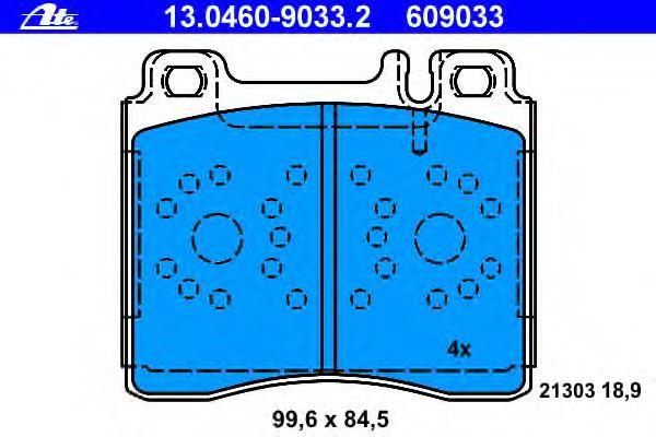 Колодки тормозные дисковые Ate 1304609033213046090332