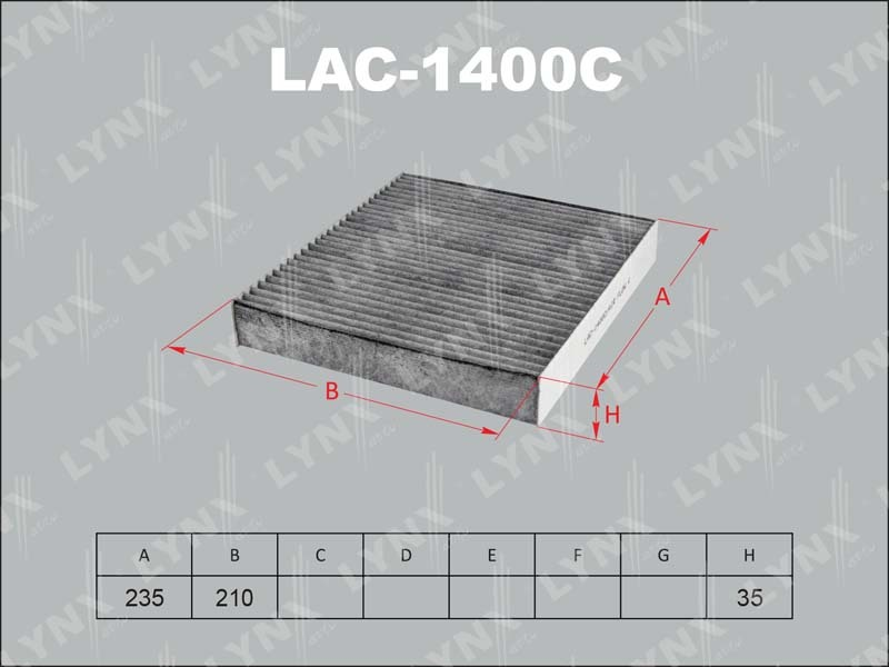 Фильтр салона Lynx LAC1400CLAC1400C