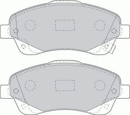 Колодки тормозные дисковые Premier Ferodo FDB1648FDB1648