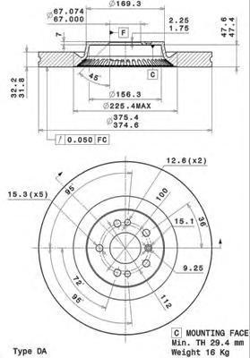 Диск тормозной Brembo 09R1051109R10511