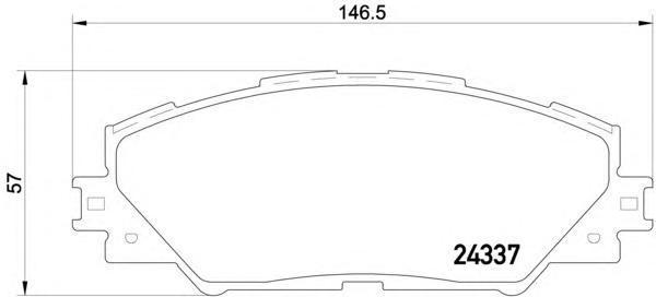 Колодки тормозные дисковые, 4 шт Textar 24337012433701