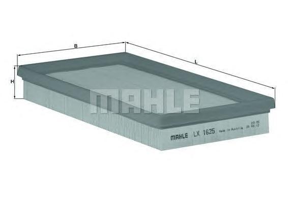 Фильтр воздушный Mahle/Knecht LX1625LX1625