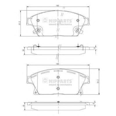 Колодки тормозные передние Nipparts N3600915N3600915