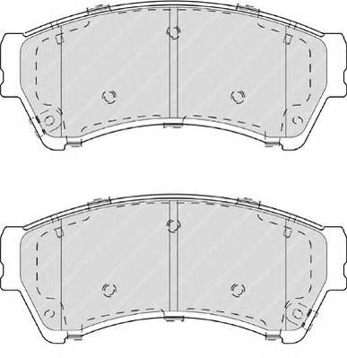 Колодки тормозные дисковые Premier Ferodo FDB4062FDB4062