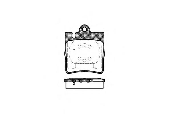 Колодки тормозные задние Road House 270900270900