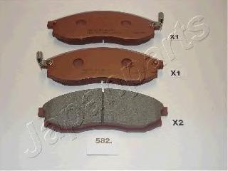 Колодки тормозные дисковые Japanparts PA582AFPA582AF
