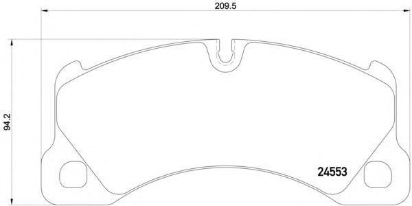 Колодки тормозные передние Textar 24553012455301