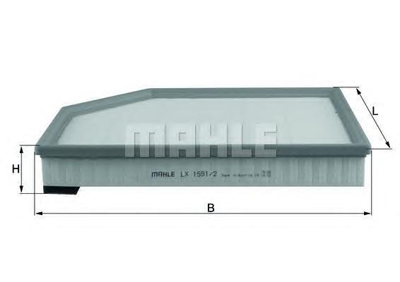 Фильтр воздушный Mahle/Knecht LX15912LX15912