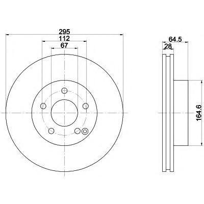 Диск тормозной Textar 92163203 комплект 2 шт92163203