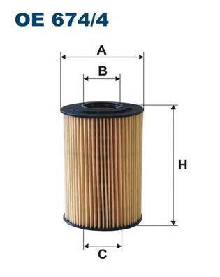 Фильтр масляный Filtron OE6744OE6744