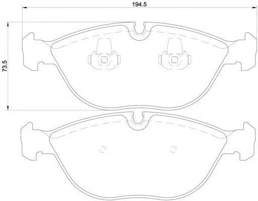 Колодки тормозные дисковые, 4 шт Textar 21484012148401