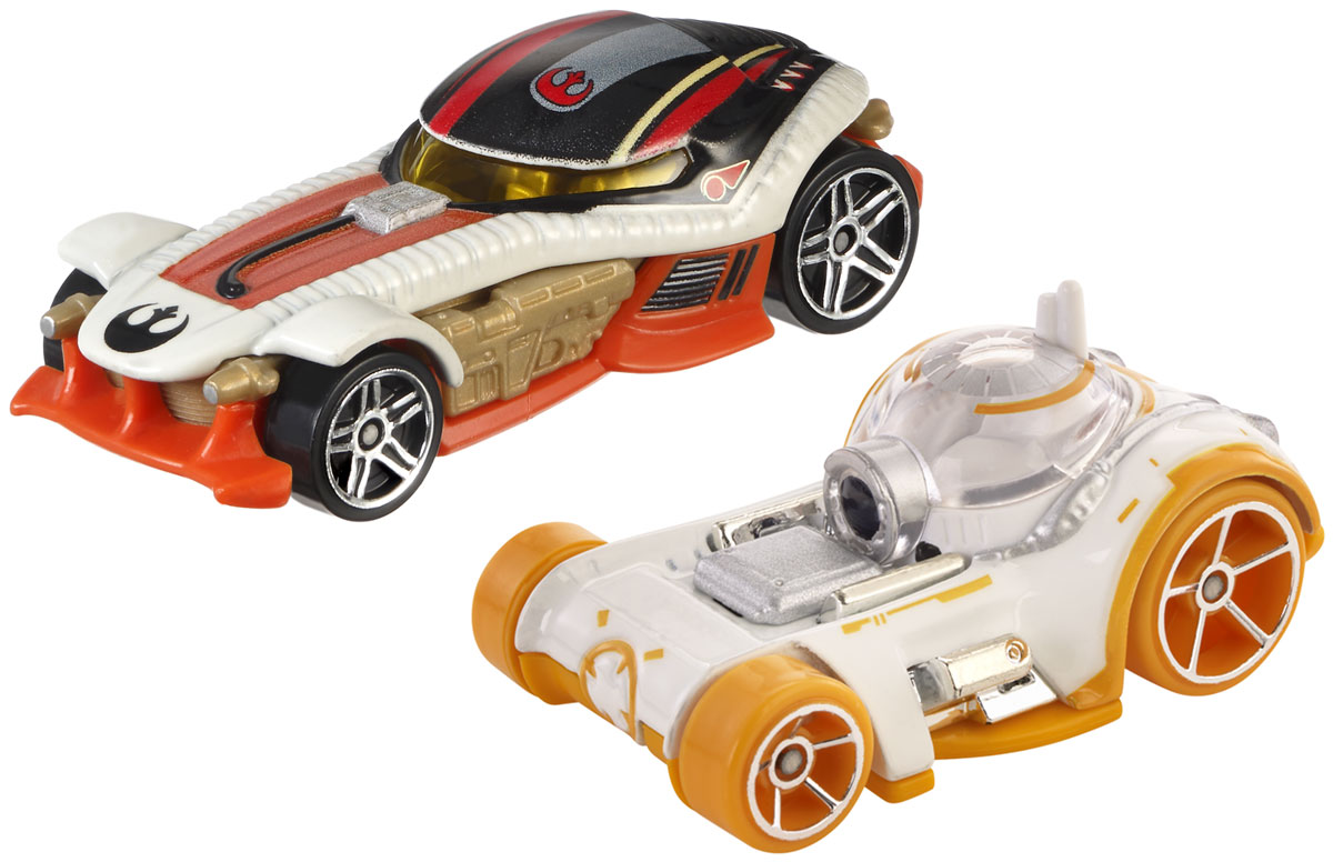 Hot Wheels Star Wars Набор машинок BB-8 & Poe Dameron коробки для хранения hot wheels портативный кейс для хранения 18 машинок hot wheels цвет зеленый